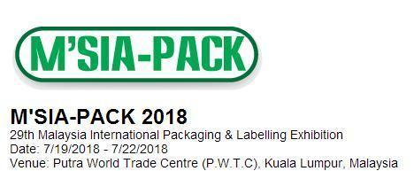 Invitation For The M'SIA-PACK 2018