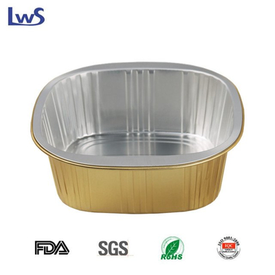 LWS-SQC163 Coated aluminum foil container