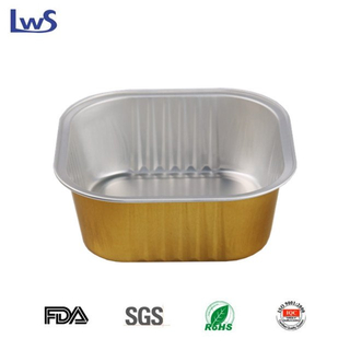 LWS-SQC112 Coated aluminum foil container